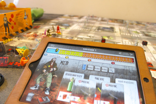 Zombicide gameplay with the iPad