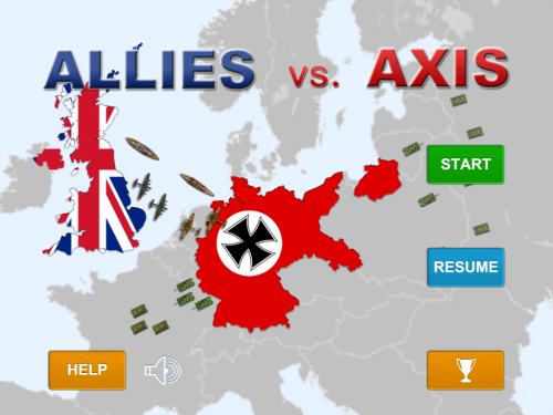Allies vs Axis title screen