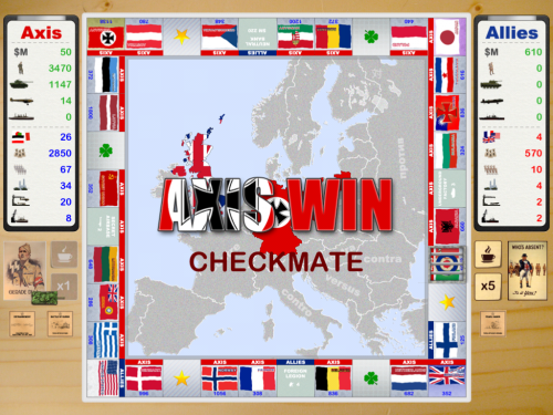Allies Vs Axis Checkmate screen