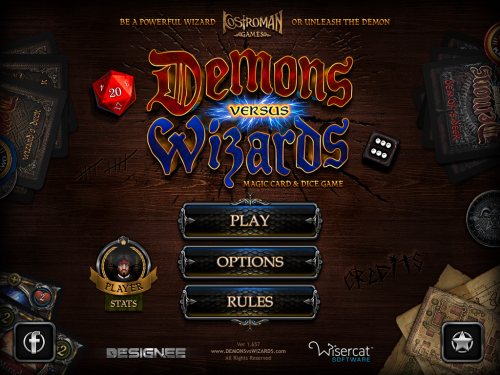Demons vs. Wizards launch screen