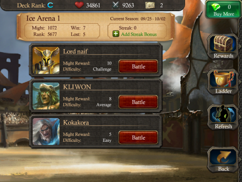 Online multiplayer in the arena