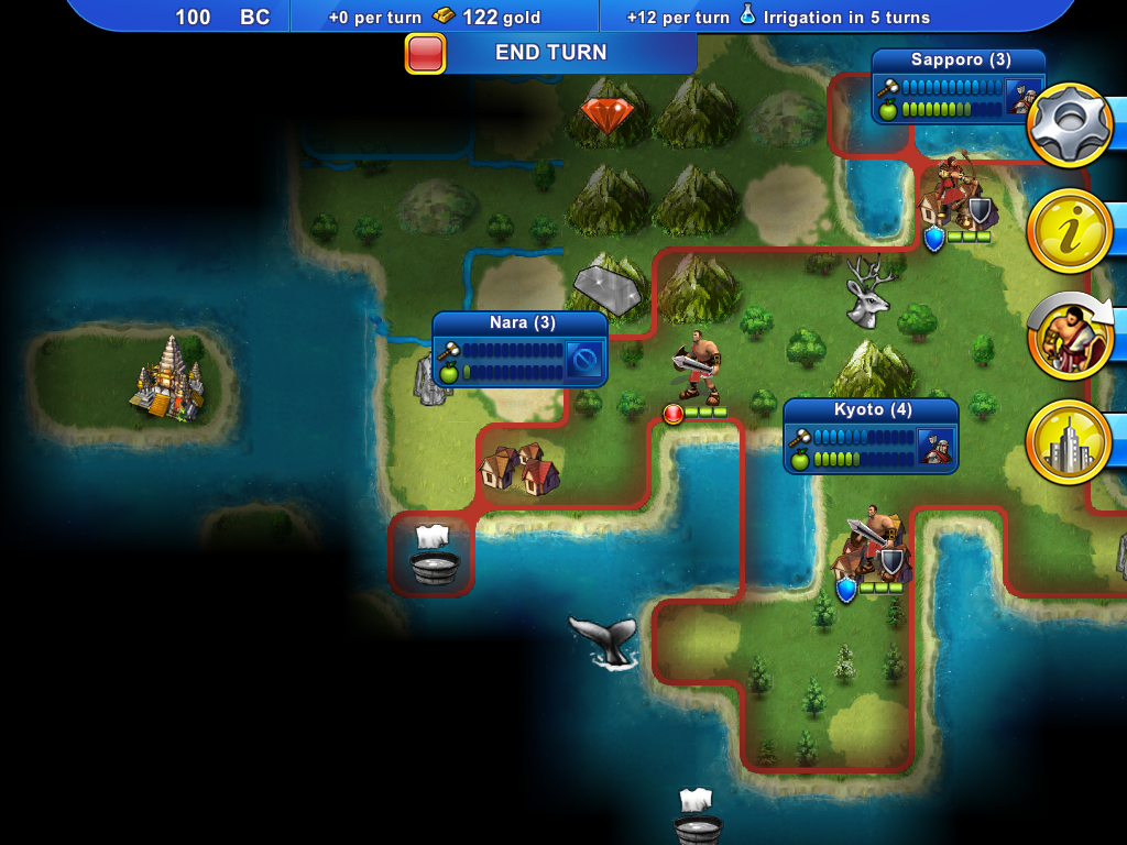 civilization revolution - map