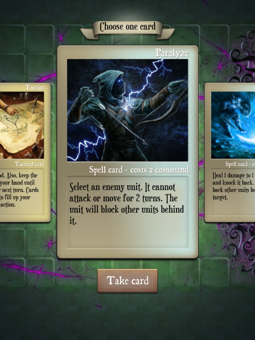 Gorgeous artwork complements powerful cards.