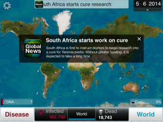 plague inc work on the cure