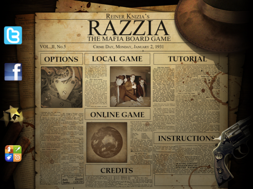 Razzia title screen