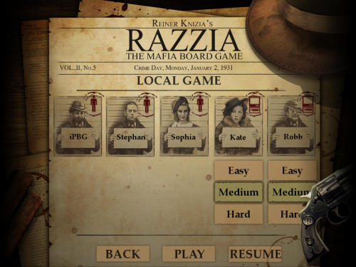 Razzia game screen