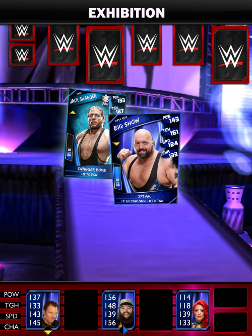 WWE Supercard entrance ramp