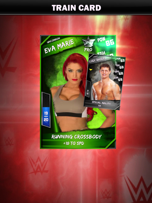 WWE Supercard level up