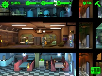 Fallout shelter -  zoomed in room