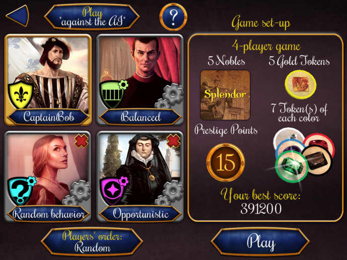 Splendor game set-up