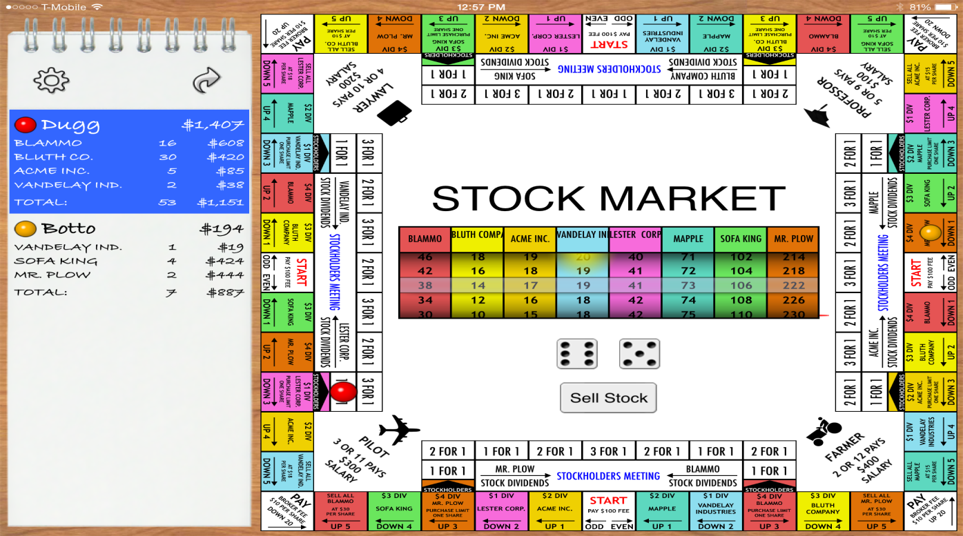 stock market game financial options stock market game
