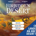 Forbidden Desert – Quenching thirst for good board games