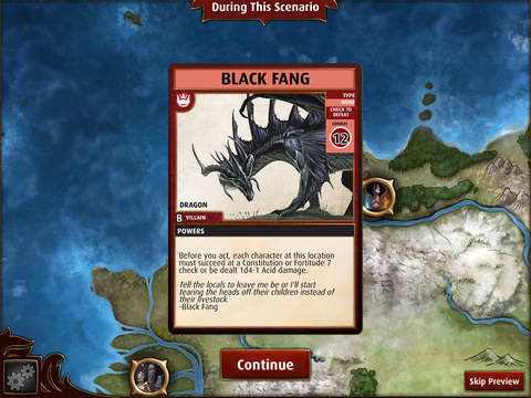 black fang card overview screen