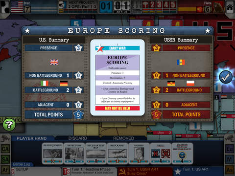 Twilight struggle game interface iOS